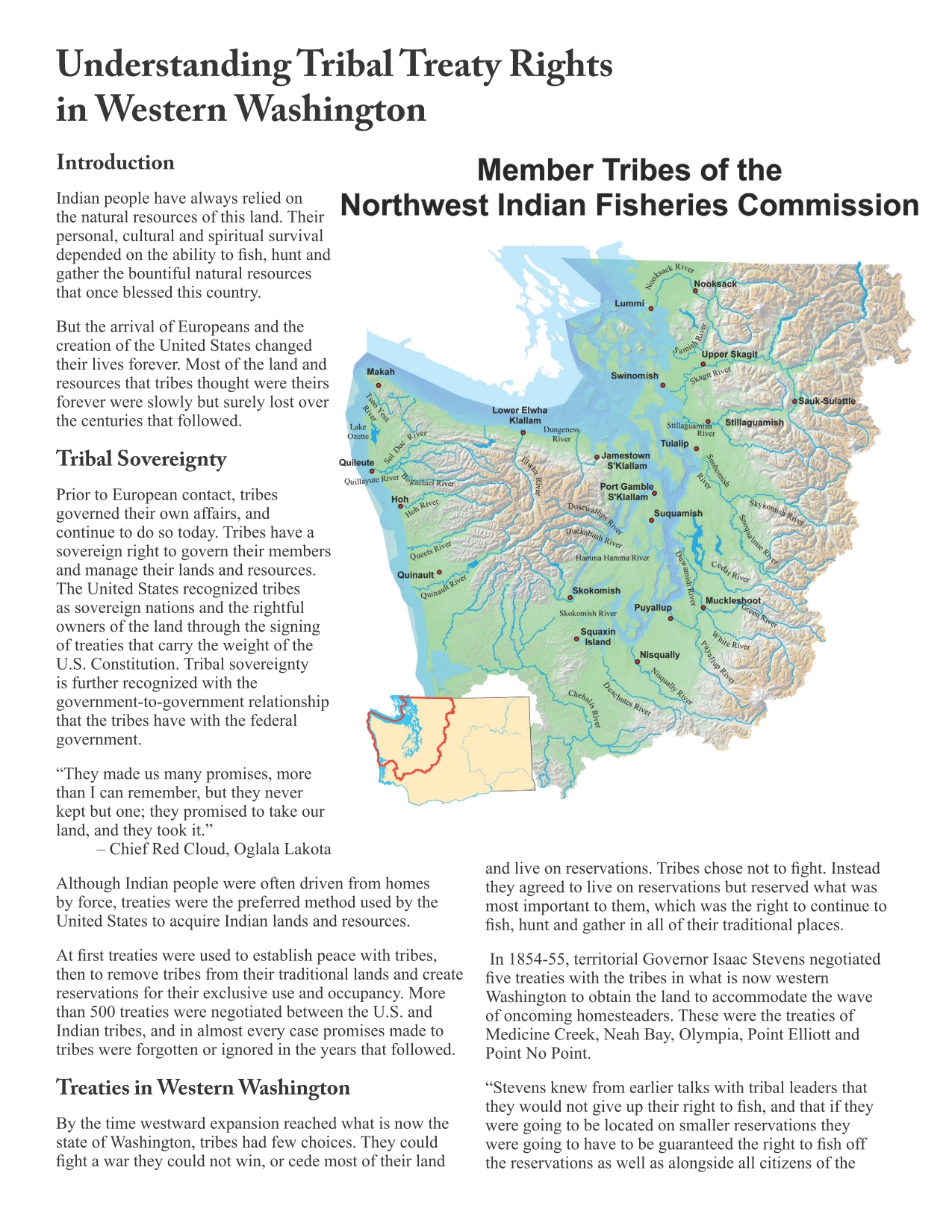 Treaties | Northwest Indian Fisheries Commission